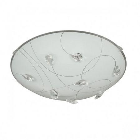 Plafoniera Wofi RENNES 1x LED 12W, 1000 Lumen, 3000 Kelvin, incl. pentru baie, hol, hoteluri