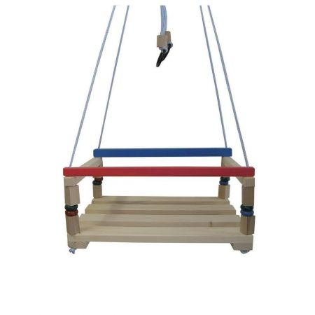 Leagan lemn copii pentru gradina sau curte, rezistent, 130 cm