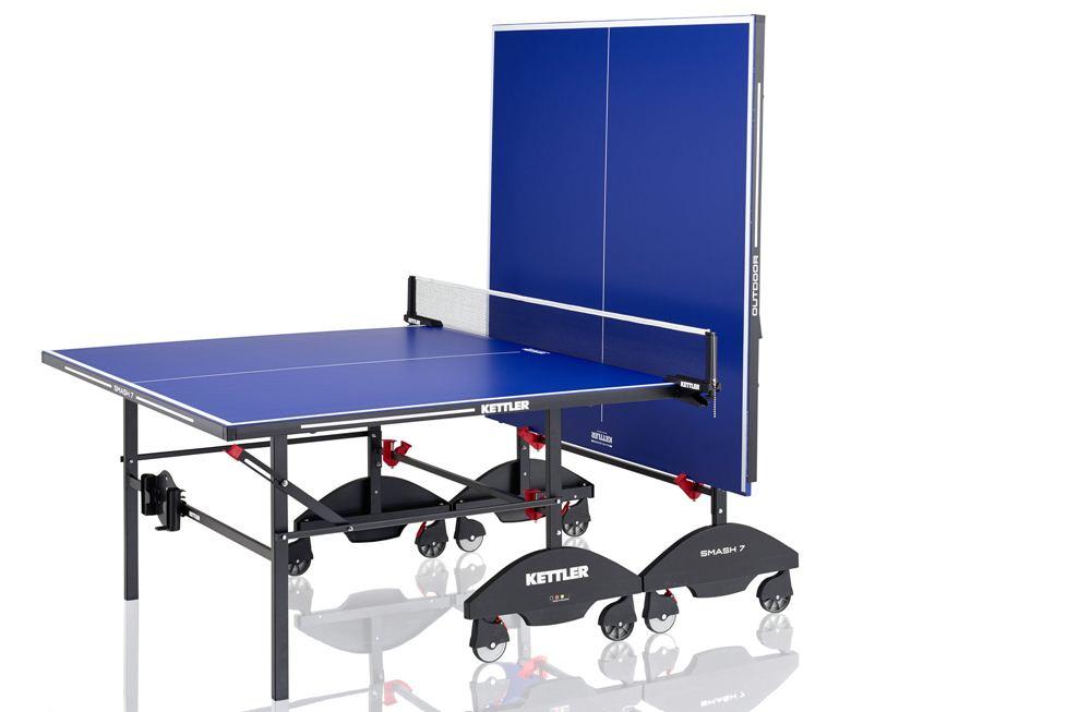 Masa de tenis exterior SMASH pentru copii sau adulti, cu fileu de prindere si ajustabil