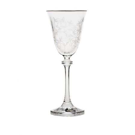 Set 6 Pahare Cristal Bohemia Vin Alexandra 350 ml, Decor 375582