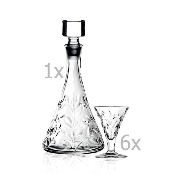 Set carafă și 7 pahare RCR Cristalleria Italiana Bibiana