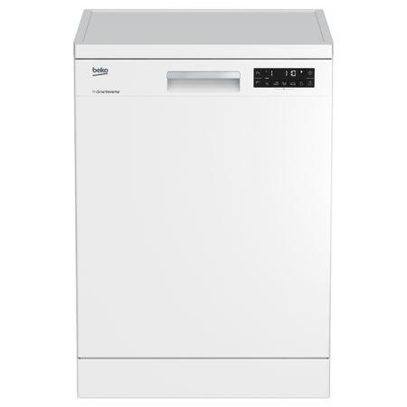 Masina de spalat vase Beko DFN28320W, 13 seturi, 8 programe, Afisaj LCD, ProSmart Inverter, Clasa A  , 59.8 cm, Alb
