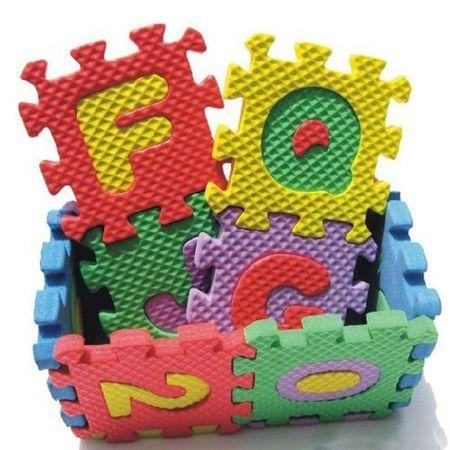 Covor puzzle din burete cu cifre pentru camera copilului