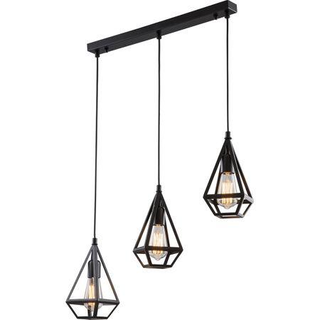 Lustra neagra, minimalista, Avonni, E27, 3X60W, metal