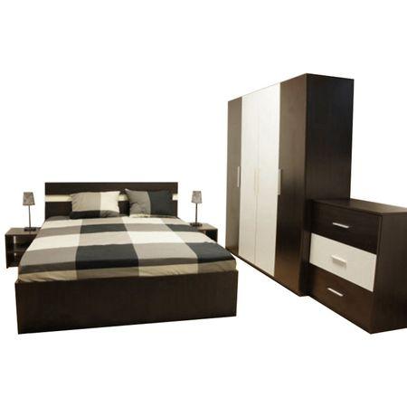 Set Dormitor Salonic Maro/Alb, stil modern