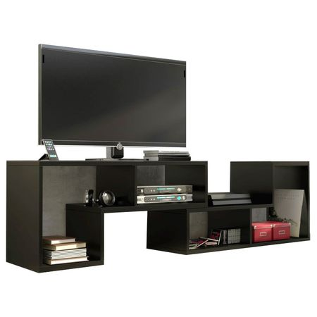 Set Living minimalist, negru Mistyk, Wenge