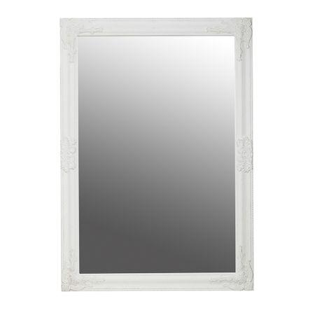 Oglinda dreptunghiulara pentru perete, MDF, Alb, 102 x 72 cm