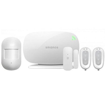 SMANOS Kit Sistem de Alarma Wireless Cu Sim Si Dispozitiv Central X300 Alb