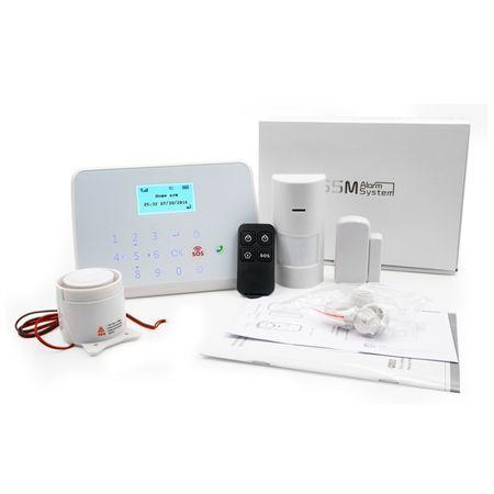 Detector de inundatie / efractie cu brat mecanizat, 3 senzori wireless, GSM GS-GT1