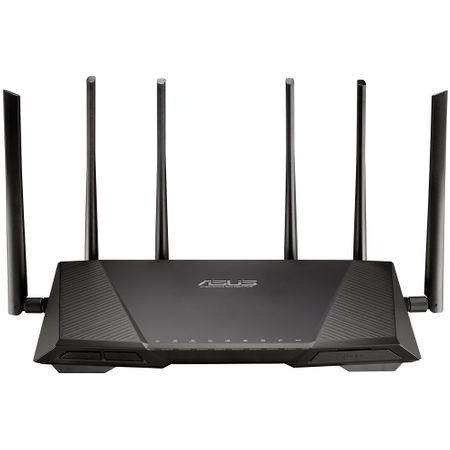 Router wireless ASUS RT-AC3200, Tri-Band, AC 3200, 600   1300   1300 Mbps, 4 x RJ45 10/100/1000 Mbps
