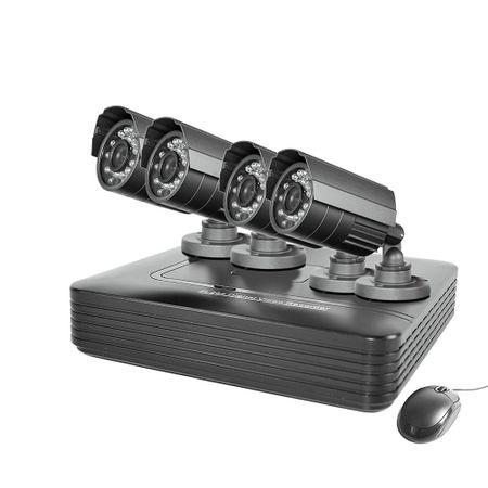 Kit Supraveghere video PNI House PTZ1000, 4 camere de exterior, DVR, HDD 1TB