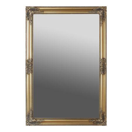 Oglinda dreptunghiulara pentru perete, MDF, Auriu, 102 x 72 cm