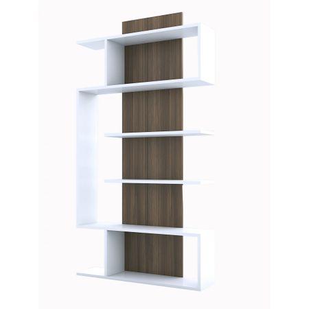 Biblioteca Joke Modella, alb/nuc, pal 18 mm, 172 x 90 x 22 cm