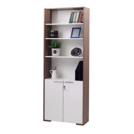 Biblioteca Adore Cheie Concept, KTP-28-NB-1, Maro/Alb, 76 X 201 X 36 cm