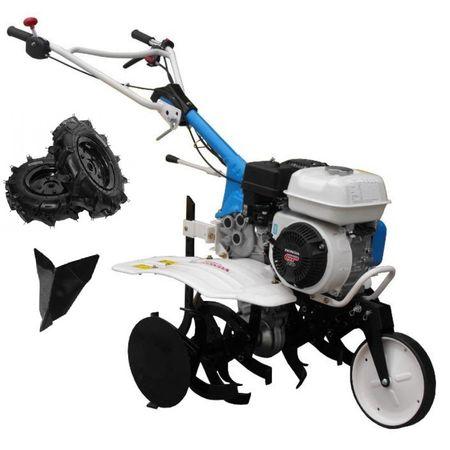 Pachet Motosapa AGT 5580 motor HONDA GP160 5.5CP cu freza segmentabila 80 cm, roti cauciuc, plug bilonat