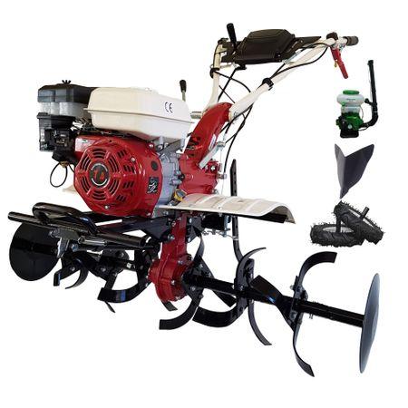 Pachet Motocultor profesional 7100CF de 7 CP cu freza de 110 cm si rarita fixa profesionala