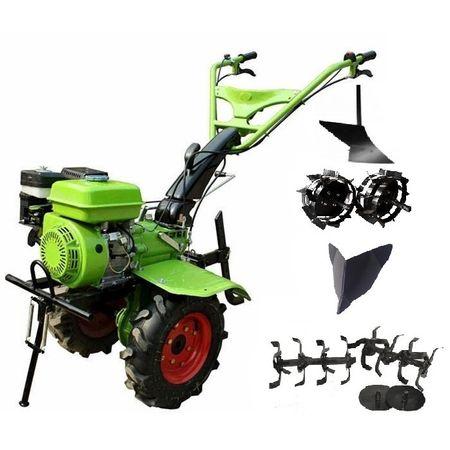 Pachet Motocultor BSR 1100D - 13 CP benzina - transmisie profesionala cu pinioane, latime lucru 900-1200 mm