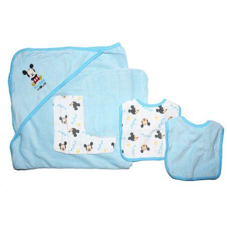 Set bebe Mickey, 5 piese, albastru