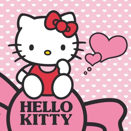 Prosop de baie Detexpol Hello Kitty 30x30 cm, bumbac
