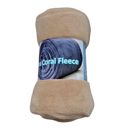 Patura moale, Home Still, Coral Fleece, 190x220 cm, Crem