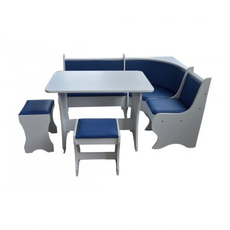 Set Bucatarie, Albastru cu alb, 157X115 cm