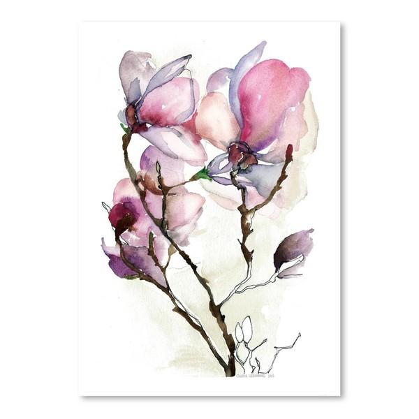 Poster Magnolia III, 30x42cm roz