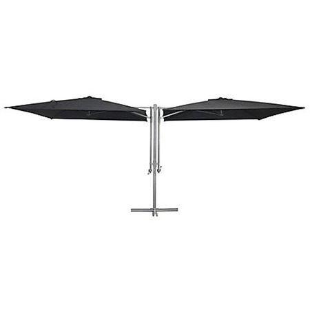 Umbrela dubla 2.5 x 2.5 m antracit H-Line