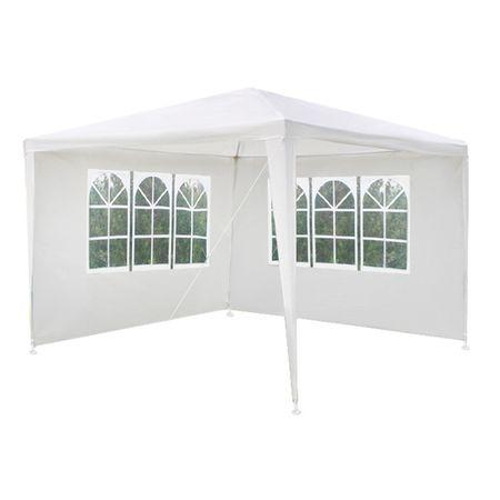 Cort pavilion pentru gradina, curte sau evenimente 3x3m, culoare Alb