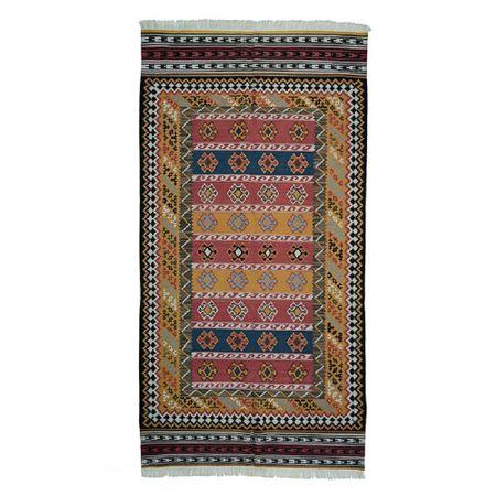 Covor lana, lucrat manual multicolor 260 x 163 cm, origin India