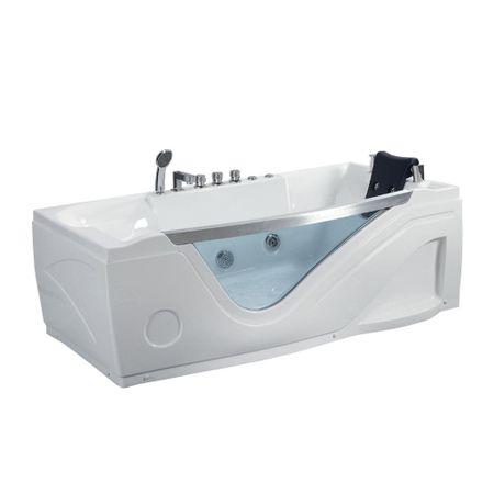 Cada cu hidromasaj Q-324N, alb, 1850 x 950 x 650 mm, acril sanitar antibacterian