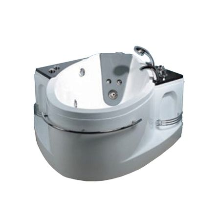 Cada cu hidromasaj J-039, alb, 1300 x 1300 x 680 mm, acril sanitar antibacterian