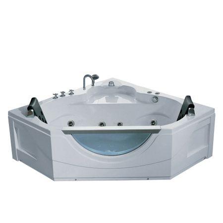 Cada cu hidromasaj SPA Q-368, alb, 1650 x 1650 x 650 mm, acril sanitar antibacterian