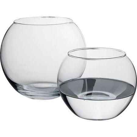 Vaza rotunda sticla 16 cm Flora