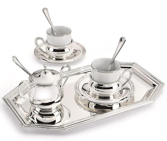 Chinelli Silver Coffee - Made in Italy - set monumental pentru cafea