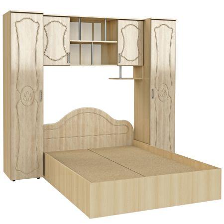 Set Dormitor Tineret MDF, 227x51/205x200cm, Mesteacan crem