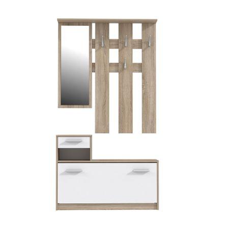 Cuier Hallways Mobila Sigma, PAL sonoma/alb, 180x97.5x25 cm