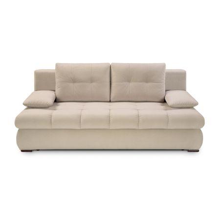 Canapea 3 locuri Vinnie Lux, Zondo, crem, 205x104x94 cm