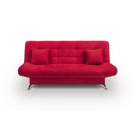 Canapea 3 locuri Violetta, Zondo, Rosu, 192x89x89 cm
