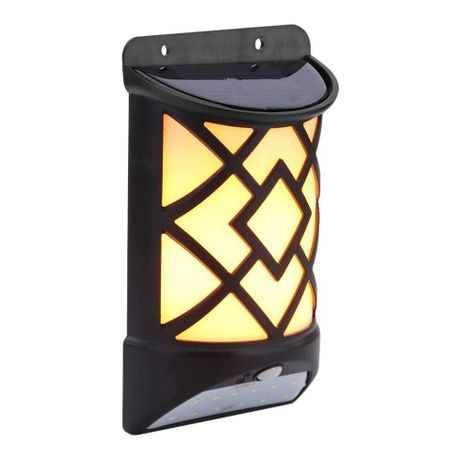 Lampa solara cu senzor miscare MX, 16 x LED, efect flacara