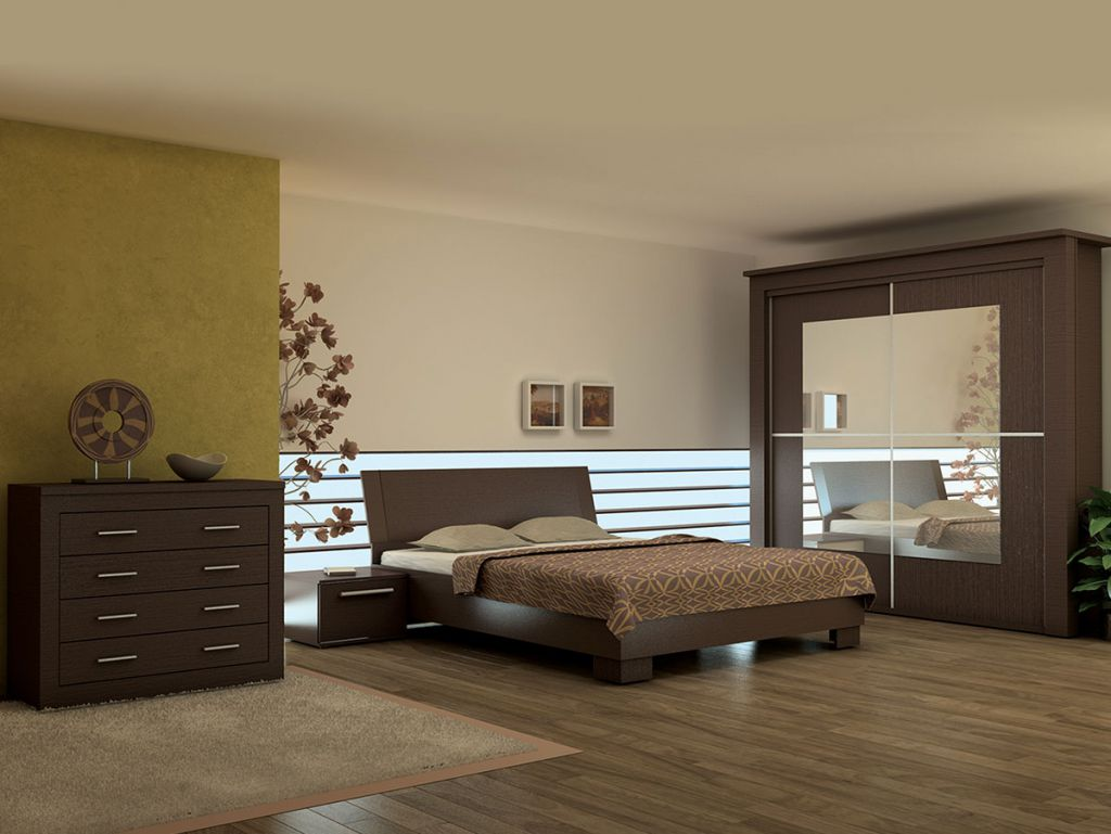 Seturi mobila pentru dormitor, culoare maro - stabilitate, confort si eleganta