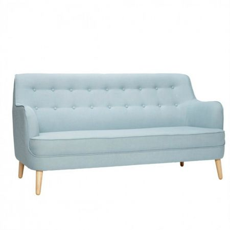 Canapea 2 locuri, bleu, Hubsch, 161 x 75 x 85 cm