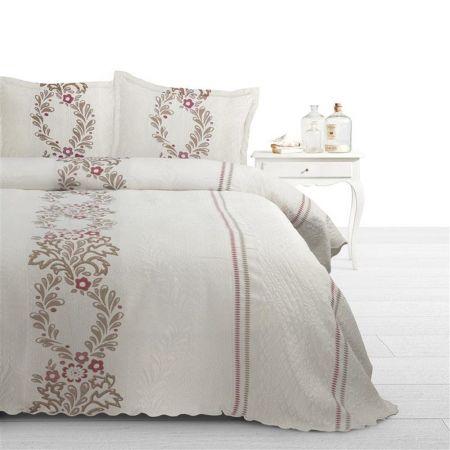 Cuvertura de pat Yolanda Royal Textile, 270x270 cm, Crem