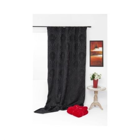 Draperie neagra Mendola Home Textiles Richard, 140x245cm, living sau dormitor