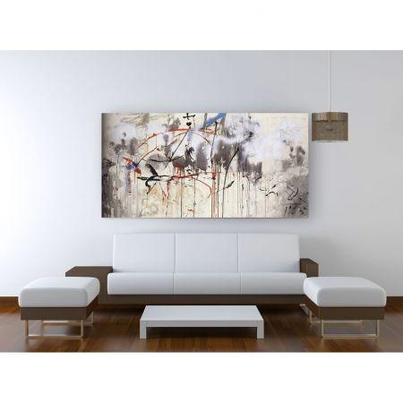 Tablou Salvador Dali Abstract, luminos in intuneric, 90 x 180 cm