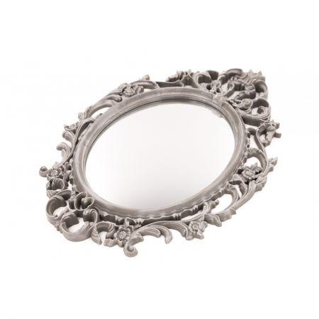 Oglinda pentru hol, Pared, Gri, 27x39x2 cm