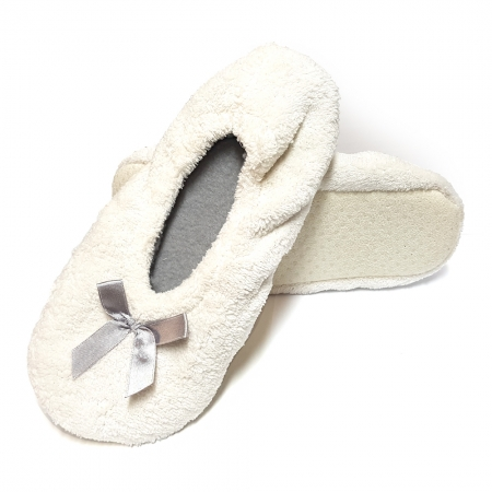Papuci de Casa Balerini, Model White Fur, Culoare Alb, Brand Lady-Line