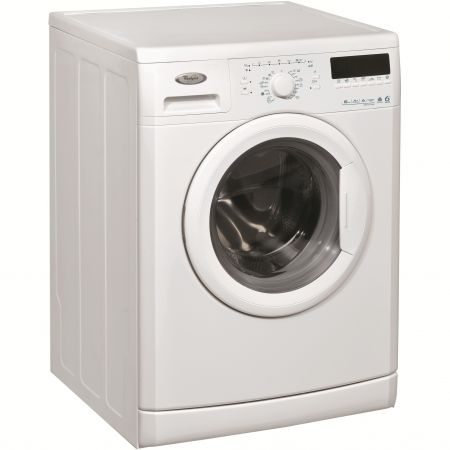 Masina de spalat rufe 6th Sense Whirlpool AWO/C61000, 1000 RPM, 6 kg, Clasa A++, Display LCD, Alb