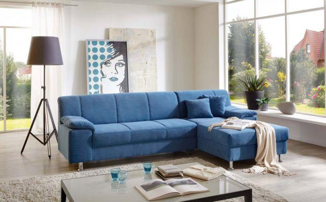 Cele mai noi modele de canapele albastre sau bleo, pentru living - fixe, extensibile sau coltar?