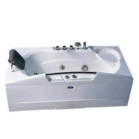 Cada cu hidromasaj J-033, alb, 1700 x 880 x 640 mm, acril sanitar antibacterian