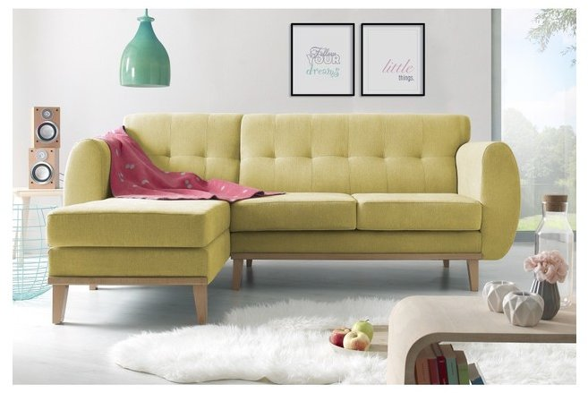 Cele mai noi modele de canapele galbene, pentru living - fixe, extensibile sau coltar?